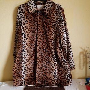 Leopard Print Reversible Coat